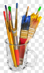 Сlipart paint brush art paintbrush artistic photo cut out BillionPhotos