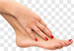 Сlipart closeup isolated hands pedicure red photo cut out BillionPhotos