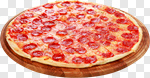 Сlipart Pizza Salami Portion Isolated Fast Food photo cut out BillionPhotos