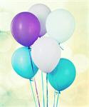Сlipart decoration baloons white blue fly string   BillionPhotos