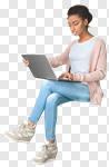 Сlipart Laptop Computer Women Internet People photo cut out BillionPhotos