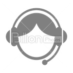 Сlipart Avatar Icon Face Silhouette Human Face vector icon cut out BillionPhotos