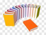 Сlipart Book Rainbow Handbook Color Image Education 3d cut out BillionPhotos