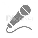 Сlipart Microphone Music Interview The Media Isolated vector icon cut out BillionPhotos