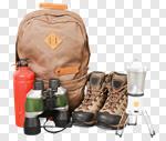 Сlipart Hiking Travel Equipment Bag Adventure photo cut out BillionPhotos