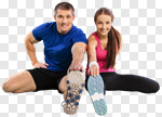 Сlipart Exercising Sport Couple Men Women photo cut out BillionPhotos