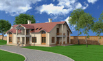 Сlipart House Residential Structure Real Estate Luxury Building Exterior 3d  BillionPhotos