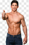 Сlipart Men Muscular Build Body Building Sensuality Shirtless photo cut out BillionPhotos