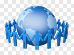 Сlipart Global Communications Globe Human Resources Teamwork Community 3d cut out BillionPhotos