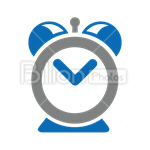 Сlipart Alarm Clock Clock Hour Time Isolated vector icon cut out BillionPhotos