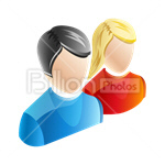 Сlipart Avatar Icon Face Pair Double vector icon cut out BillionPhotos