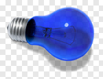 Сlipart blue light light bulb bulb electricity photo cut out BillionPhotos