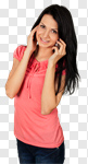 Сlipart Mobile Phone Telephone Women Teenage Girls On The Phone photo cut out BillionPhotos