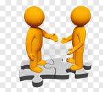 Сlipart Handshake Partnership People Connection Greeting 3d cut out BillionPhotos