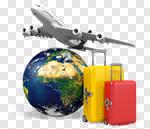 Сlipart Travel Airplane Journey Vacations Globe 3d cut out BillionPhotos