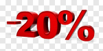 Сlipart Sale 20% Number 20 Percentage Sign % 3d cut out BillionPhotos
