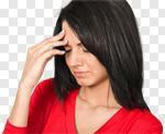 Сlipart Emotional Stress Headache Women Illness Asian Ethnicity photo cut out BillionPhotos