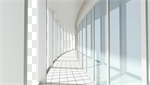 Сlipart interior white wall hall room 3d cut out BillionPhotos