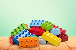 Сlipart Blocks on the desk brick fun green building-block   BillionPhotos