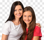 Сlipart Teenager Mother Parent Daughter Family photo cut out BillionPhotos