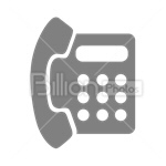 Сlipart Phone Telephone Electronics Industry Communication Technology vector icon cut out BillionPhotos