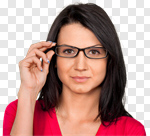 Сlipart Glasses Women Beautiful Human Eye Blond Hair photo cut out BillionPhotos