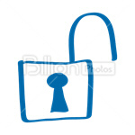 Сlipart Lock Padlock Open Isolated Security System vector icon cut out BillionPhotos