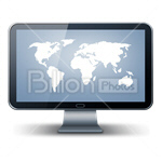 Сlipart Screen Monitor Computer Screen Liquid-Crystal Display Flat Screen vector icon cut out BillionPhotos