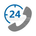 Сlipart Support 24 hours Phone Communication Telephone vector icon cut out BillionPhotos