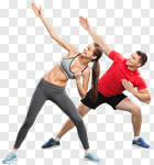 Сlipart fit fitness team isolated aerobic photo cut out BillionPhotos