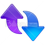 Сlipart Arrow Arrow Sign Up Upwards Down vector icon cut out BillionPhotos