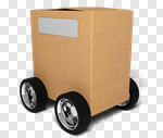Сlipart Box Moving Office Wheel Delivering Package 3d cut out BillionPhotos