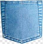 Сlipart Pocket Jeans Denim Blue Textile photo cut out BillionPhotos
