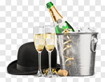 Сlipart New Year's Eve Champagne New Year's Day Ice Bucket Toast photo cut out BillionPhotos