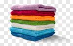 Сlipart Towel Laundry Stack Folded Multi Colored photo cut out BillionPhotos
