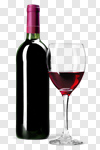 Сlipart Wine Bottle Wine Bottle Wineglass Glass photo cut out BillionPhotos