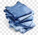 Сlipart Jeans Clothing Denim Stack Old photo cut out BillionPhotos