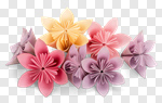 Сlipart origami flower paper art isolated photo cut out BillionPhotos