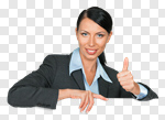Сlipart Women Billboard Thumbs Up Business White photo cut out BillionPhotos