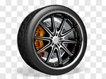 Сlipart Tire Wheel Car Isolated White 3d cut out BillionPhotos
