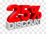 Сlipart Sale 25% Percentage Sign Number 25 Retail 3d cut out BillionPhotos