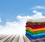 Сlipart Towel Laundry Stack Folded Multi Colored   BillionPhotos