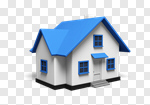 Сlipart House Residential Structure Three-dimensional Shape Real Estate Isolated 3d cut out BillionPhotos