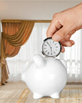 Сlipart Time Savings Time is Money Clock Piggy Bank   BillionPhotos