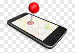 Сlipart Map Telephone Mobile Phone Global Positioning System Straight Pin 3d cut out BillionPhotos