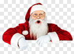 Сlipart Santa Claus Santa Hat Christmas Sign Men photo cut out BillionPhotos