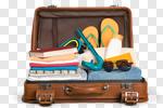 Сlipart travel traveler pack open sunscreen photo cut out BillionPhotos