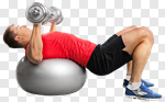 Сlipart Exercising Sport Fitness Ball Relaxation Exercise Men photo cut out BillionPhotos