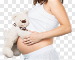 Сlipart pregnant bear mom expecting birth photo cut out BillionPhotos