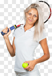 Сlipart Women Young Adult Tennis Action Exercising photo cut out BillionPhotos